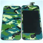 iphone 4 LCD, camouflage color, complete LCD with back cover