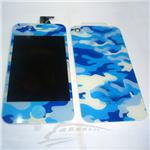 iphone 4 LCD camouflage color complete LCD with back cover